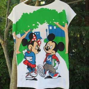 70s VTG Disney Allison NY Mickey Double sided T